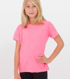 BB201 American Apparel Youth Poly-Cotton Short Sleeve Crew Neck