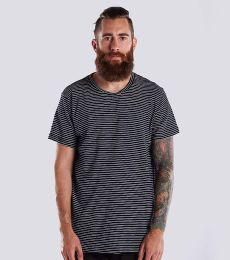 Men's 6 oz. True Indigo Striped Crew