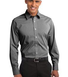 Port Authority S647    Fine Stripe Stretch Poplin Shirt