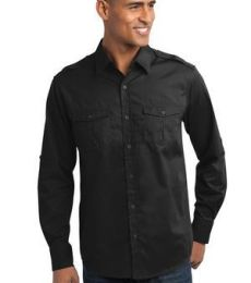 Port Authority S649    Stain-Release Roll Sleeve Twill Shirt