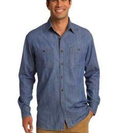 Port Authority S652    Patch Pockets Denim Shirt