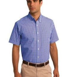 Port Authority S655    Short Sleeve Gingham Easy Care Shirt
