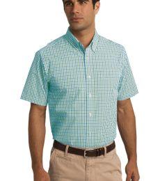 Port Authority S655    Short Sleeve Gingham Easy Care Shirt