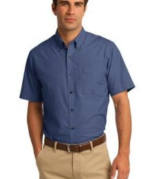 Port Authority S656    Short Sleeve Crosshatch Easy Care Shirt