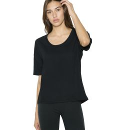 American Apparel RSA2320W Women's Power Wash Deep U-Neck T-Shirt