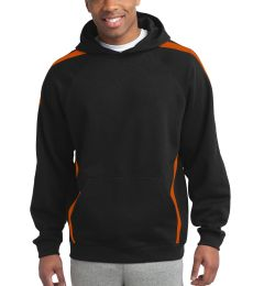Sport Tek TST265 Sport-Tek Tall Sleeve Stripe Pullover Hooded Sweatshirt