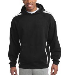 Sport Tek ST265 Sport-Tek Sleeve Stripe Pullover Hooded Sweatshirt