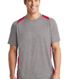 Sport Tek ST361 Sport-Tek Heather Colorblock Contender Tee