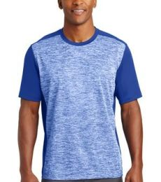 Sport Tek ST395 Sport-Tek PosiCharge Electric Heather Colorblock Tee