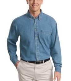 Port Authority TLS600    Tall Long Sleeve Denim Shirt