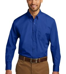 242 TW100 Port Authority Tall Long Sleeve Carefree Poplin Shirt