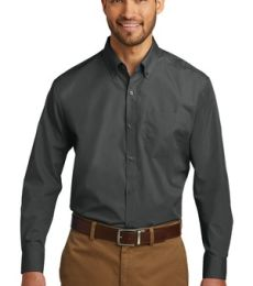 242 W100 Port Authority Long Sleeve Carefree Poplin Shirt