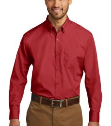 242 W100 Port Authority Long Sleeve Carefree Poplin Shirt