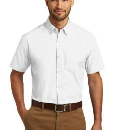 242 W101 Port Authority Short Sleeve Carefree Poplin Shirt