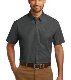 242 W101 Port Authority Short Sleeve Carefree Poplin Shirt