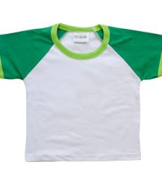 KD005 Toddler Raglan color Block Tee