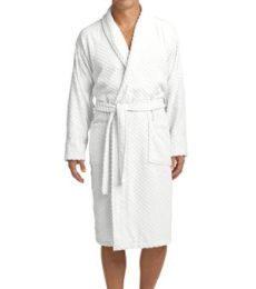 R103 Port Authority® Checkered Terry Shawl Collar Robe