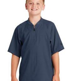 1001 YNEA600 New Era  Youth Cage Short Sleeve 1/4-Zip Jacket