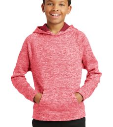 Sport Tek YST225 Sport-Tek Youth PosiCharge Electric Heather Fleece Hooded Pullover
