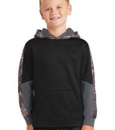 Sport Tek YST231 Sport-Tek Youth Sport-Wick Mineral Freeze Fleece Colorblock Hooded Pullover