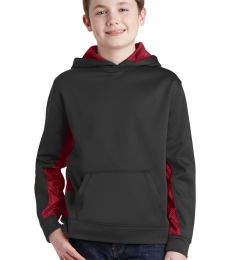 Sport Tek YST239 Sport-Tek Youth Sport-Wick CamoHex Fleece Colorblock Hooded Pullover