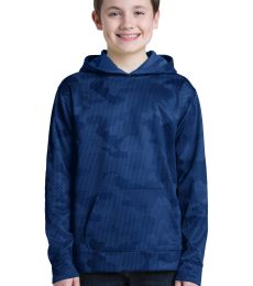 Sport Tek YST240 Sport-Tek Youth Sport-Wick CamoHex Fleece Hooded Pullover
