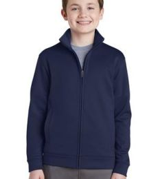 Sport Tek YST241 Sport-Tek Youth Sport-Wick Fleece Full-Zip Jacket