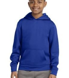 Sport Tek YST244 Sport-Tek Youth Sport-Wick Fleece Hooded Pullover