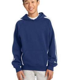 Sport Tek YST265 Sport-Tek® Youth Sleeve Stripe Pullover Hooded Sweatshirt