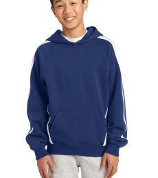 Sport Tek YST265 Sport-Tek® Youth Sleeve Stripe Pullover Hooded Sweatshirt