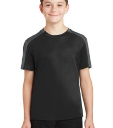 Sport Tek YST354 Sport-Tek Youth PosiCharge Competitor Sleeve-Blocked Tee