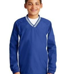 Sport Tek Youth Tipped V Neck Raglan Wind Shirt YST62