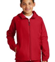 Sport Tek Youth Hooded Raglan Jacket YST73