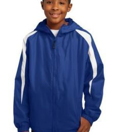 Sport Tek Youth Fleece Lined Colorblock Jacket YST81