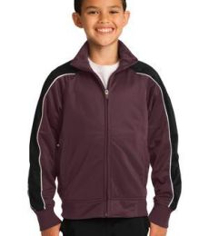 Sport Tek YST92 Sport-Tek Youth Piped Tricot Track Jacket