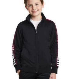 Sport Tek YST93 Sport-Tek Youth Dot Sublimation Tricot Track Jacket