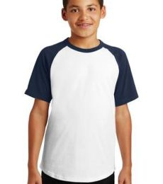 Sport Tek YT201 Sport-Tek Youth Short Sleeve Colorblock Raglan Jersey