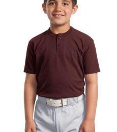 Sport Tek Youth Short Sleeve Henley YT210
