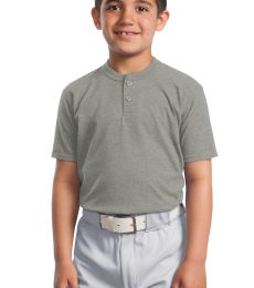 Sport Tek Youth Short Sleeve Henley YT210