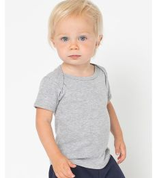 4000W American Apparel Infant Baby Rib Short Sleeve Lap T