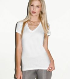 6035 Bella Ladies' 4.2 oz. Jersey Deep V-Neck T-Shirt