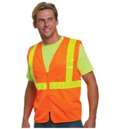 Bayside BA3780 Mesh Safety Vest - Orange