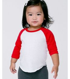 9dc67ed905 American Apparel BB053W Infant Poly-Cotton 3 4-Sleeve T-Shirt