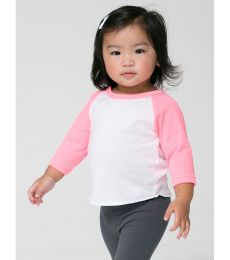American Apparel BB053W Infant Poly-Cotton 3/4-Sleeve T-Shirt