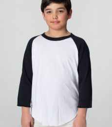 American Apparel BB253W Youth Poly-Cotton 3/4-Sleeve T-Shirt