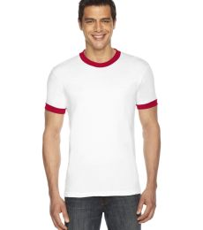 BB410W Unisex Poly-Cotton Short-Sleeve Ringer T-Shirt