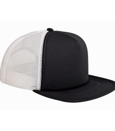 BX030 Big Accessories 5-Panel Foam Front Trucker Cap