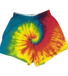 H4000b tie dye 100% Cotton Youth Shorts