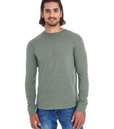 econscious EC1588 Men's Heather Sueded Long Sleeve Jersey