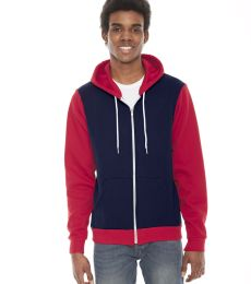 F497 American Apparel USA Made Unisex Flex Fleece Zip Hoody